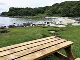 salmon pool picnic bench